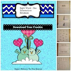 FREEBIE: Sight Word Interactive Notebook - Week 1 - CAN. There is a daily activity for your child to learn the sight word each week. #homeschool #reading #sightwords #interactivenotebooks