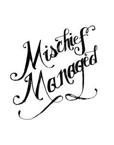 mischief managed (on wrist, hip, or shoulder blade)