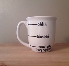Caffeine mug, silly coffee mug, coffee lover gift, gift for dad, mug for dad