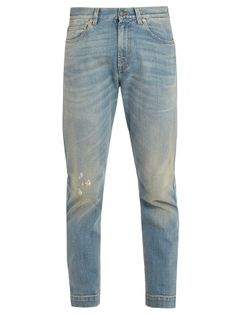 Distressed straight-leg jeans | Gucci | MATCHESFASHION.COM