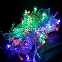 Holiday lighting Outdoor RGB 100 LED String Lights 10M 220V 110V led fairy lights red/green/blue/yellow/pink/white #Affiliate