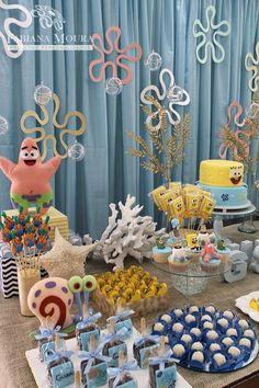 Little Wish Parties   Sponge Bob Birthday Party   https://littlewishparties.com