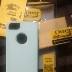 IPhone 5&5s Otter Box This is a Teal/Bluish Otter Box COMMUTER . never been used.Stylish Protection for iPhone 5&5s. Absolutely love the color! This is a protector for your phone. It does not have anything that would be around the screen of your phone but it does come with a clear screen protector!! Like shown in the pictures. Please feel free to ask any questions. Thank you for looking at my item. God Bless! OtterBox Accessories Phone Cases