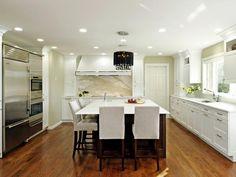 White Contemporary Kitchen - Beautiful, Efficient Kitchen Design and Layout Ideas on HGTV
