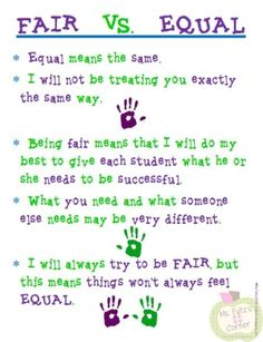 fair vs equal by belongtotoday