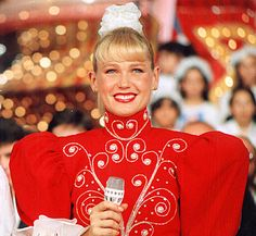Xuxa on her children's show. (late 80's)