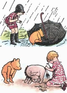 illustrations from Winnie the Pooh by Ernest Howard Shepard