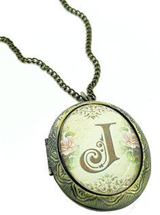 Fallen Saint Floral Initial J Cameo Locket Necklace Review