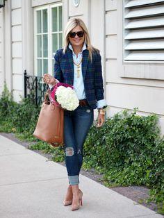 GiGi New York | Suburban Faux-Pas Fashion Blog | Saddle Olivia Shopper Tote