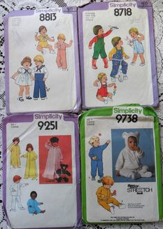Lot of 12 Vtg 70s 80s Toddler Infants Doll Sewing Patterns McCalls Simplicity | eBay