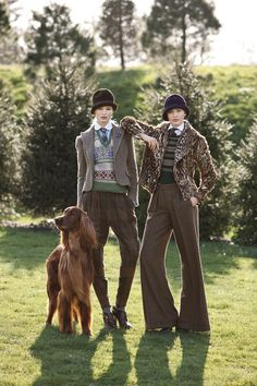 Ralph Lauren, Fall 2012. It'd be even better with fake fur and without the wool, but I love the style of these two outfits