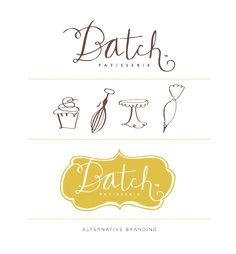 [ custom + illustration + icons + typography + ] Batch Patisserie branding by birdie-birdie Restaurant Logo, Bakery Logo, Bakery Branding, Bakery Packaging, Logo Branding, Web Design, Blog Design, Corporate Design, Visual Identity