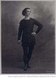 Giselle : [Vaslav Nijinsky (dans le rôle de Albrecht, acte I)] / [photographie de Bert]
