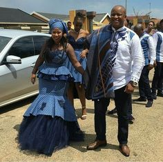 Image may contain: 4 people, people standing, beard and outdoor African Bridesmaid Dresses, African Wedding Attire, African Dresses For Women, African Attire, African Fashion Dresses, Xhosa Attire, African Women, Prom Dresses, Setswana Traditional Dresses