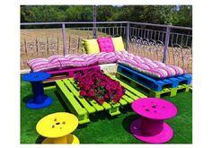 Cute outdoor pallet furniture