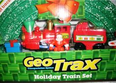 """Fisher Price Geo Trax Transportation System Holiday Train Set with Santa! (Toys""""R""""Us Exclusive) New"""