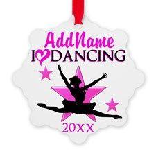 DANCE STAR Snowflake Ornament http://www.cafepress.com/sportsstar/10423569 #Dancer #Dancergifts #Ballet #Ballerina #Ballet Christmas #Balletornament #Dancerornament #Personalizeddancer