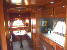 Beautifully finished woodwork in 1938 Kozy Coach Trailer