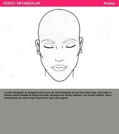 rosto retangular