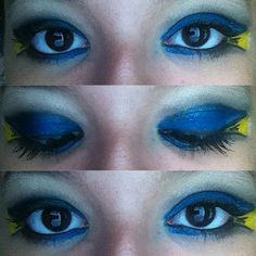 Dory from Finding Nemo inspired eye makeup look. I did this myself -Tatiana