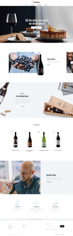 Vervewine Homepage Design