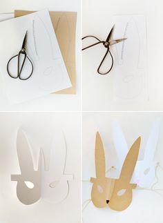 Bunny máscara para imprimir para la primavera