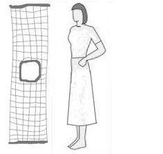 Very good directions for making your own wire mesh custom dress form, in under an hour