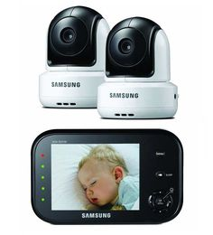 Samsung ultra view best baby monitor with two cameras for monitoring two children in 2 rooms of different places