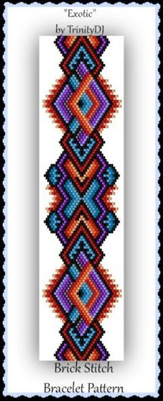 BP-BR-161-2016-081 Exotic Brick Stitch Beadwork por TrinityDJ