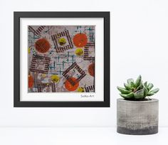 Acrylmalerei - Acrylbild auf Papier **Farbmix Serie 2** - ein Designerstück von SoMa-Art bei DaWanda
