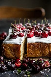 This Cherry Party Cake with Bourbon Marshmallow Frosting is the perfect dessert for any occasion. Fluffy white cake topped with a bourbon marshmallow frosting and fresh cherries! Easy to make, but bursting with flavor! Frosting Recipes, Cupcake Recipes, Baking Recipes, Dessert Recipes, Cupcakes, Cupcake Cakes, Easy Desserts, Delicious Desserts, Yummy Food