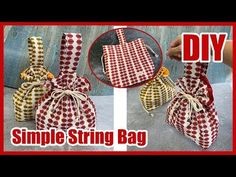 Sewing Hacks, Sewing Projects, Pouch Tutorial, String Bag, Crochet Purses, Beautiful Bags, Bag Making, Purses And Bags, Sewing Patterns