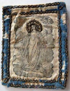 Escapulario grande (Antigüedades - Religiosas - Escapularios Antiguos)