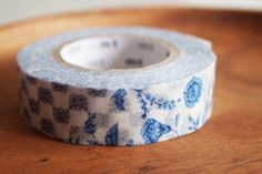 mt masking tape floral dots stripes blue. Scrapbooking, packing, organise things.. $3.50, via Etsy.
