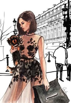 Fashion illustration by Inslee Haynes.