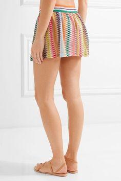 Missoni - Mare Rhombus Metallic Crochet-knit Shorts - Orange - IT46
