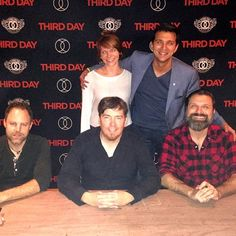 I may have stood in line umm never to meet someone until last night!  The music was incredible!!! #thirdday @macpowell @rory_vaden