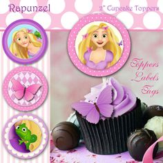 INSTANT DOWNLOAD  RAPUNZEL  Cupcake Toppers. by urbanwillow, $3.50