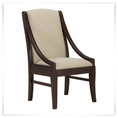 Bring casual elegance into your dining space with the classic design of  Canyon. Uncompromising workmanship and superb value are the hallmarks of  the Kevin Charles brand, and the sloped, wood arm chair continues this  rich tradition with its warm woods and functional form that will grace  your home for years to come.