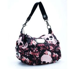 New Trendy Betsey Johnson Fashion Roses skull shoulder bag handbag Black Tote Purse, Backpack Purse, Chanel Handbags, Purses And Handbags, Handbags Online, Crane, Skull Purse, Dior, Skull Fashion