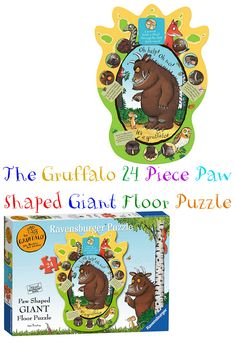 This puzzle definitely puts the 'Giant' in 'Giant Floor Puzzle'!   With 24 pieces this puzzle is perfect for your little ones who have mastered the smaller puzzles, and are seeking a challenge to further develop their skills.  Plus it creates a huge Gruffalo paw which the kids will love!