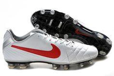 Nike Tiempo Legend IV Elite FG Soccer Cleats White Red