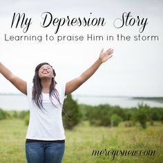 Depression: My Story. Can Christians struggle with depression? Yes, and even be thankful for it? Jesus drew me close. From my heart to yours...a more complete story of my journey with #depression