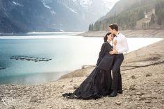 BLACK QUEEN   STYLED SHOOT Black Dress   Braut   Bride   Red   Mountains   Switzerland   Lake