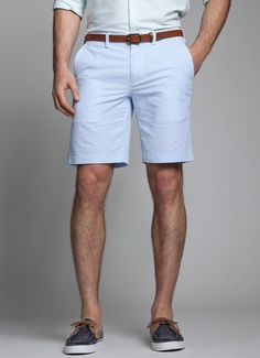 Kneersuckers - Cotton Blue and White Seersucker Shorts