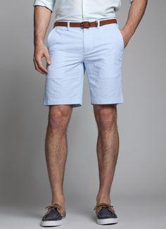 Kneersuckers - Cotton Blue and White Seersucker Shorts