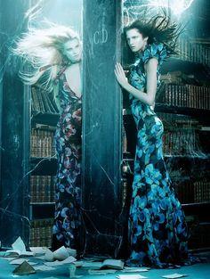 Querelle Jansen & Marta Berzkalna by Miles Aldridge for Vogue Italia