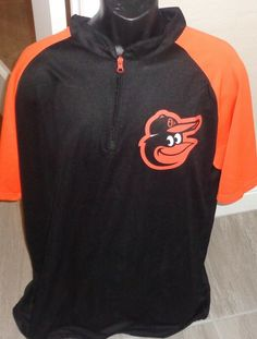 b7c8455c8cb T-Shirt · Baltimore Orioles ML Baseball Pull over Black Jersey Mens Adult  X-Large #BaltimoreOrioles Hoodies