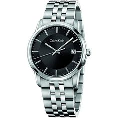 Calvin Klein Infinite Black  Silver Stainless Steel Analog Quartz Womens Watch K5S31141 *** Want additional info? Click on the image.