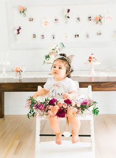 Floral First Birthday Party Fit for Foodies - Inspired By This